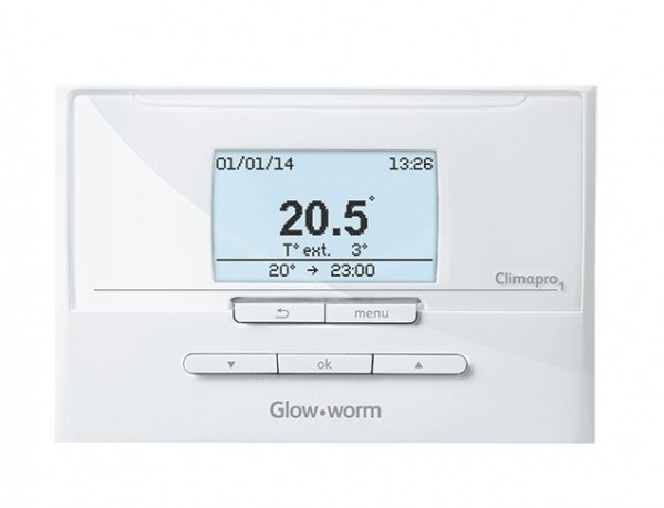 The Climapro1 RF is a programmable room thermostat that controls your heating system to suit your requirements - available from Gas Or Oil Heating Services, Maynooth, Co Kildare, Ireland
